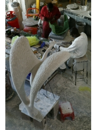 Crowned Crane in Progress by Peter Oloya